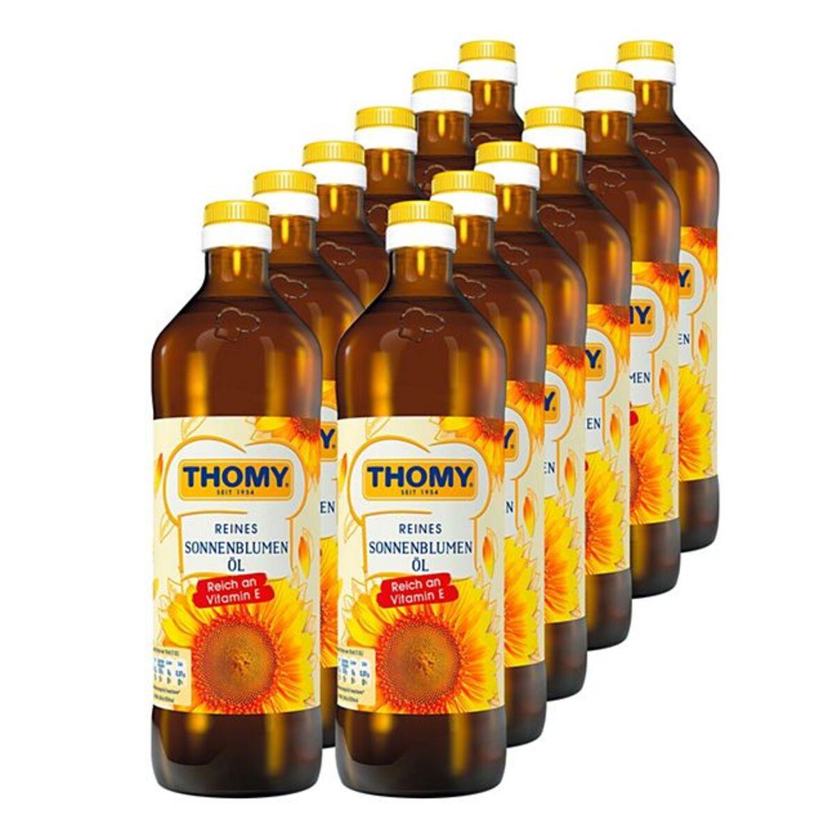 Bild 1 von Thomy Sonnenblumenöl 750 ml, 12er Pack