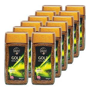 Cafet Instantkaffee Gold 100 g, 12er Pack
