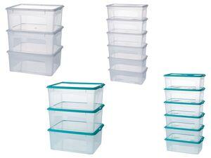 CASSETTI® Aufbewahrungsboxen Set, mit Deckeln, stapelbar