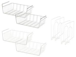 LIVARNO LIVING® Schrankkorb/ Regalaufteiler, 2 Stück, aus Eisen