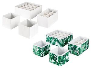 LIVARNO LIVING® Schubladen-Organizer, 4 Stück, zusammenfaltbar