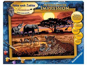 Ravensburger Malen nach Zahlen Afrikanische Impression