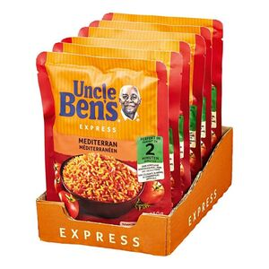 Uncle Bens Expressreis Mediterran 250 g, 6er Pack