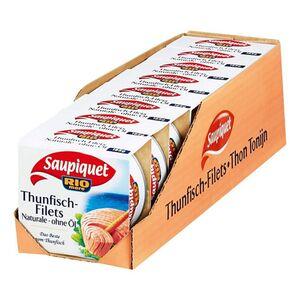 Saupiquet Thunfisch-Filets natur 130 g, 8er Pack