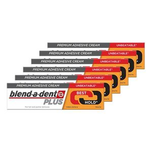 blend-a-dent Plus Duokraft Premium-Haftcreme 40 g, 6er Pack