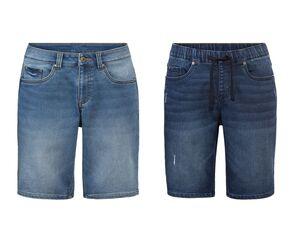 LIVERGY® Bermuda Herren, Sweat-Qualität in Jeans-Optik, mit Baumwolle und Elasthan