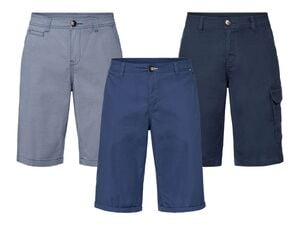 LIVERGY® Bermuda Herren, hochwertiger YKK-Markenreißverschluss, mit Baumwolle und Elasthan
