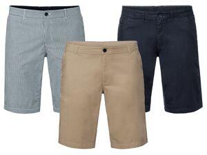 LIVERGY® Shorts Herren, hochwertiger YKK-Markenreißverschluss, mit Baumwolle und Elasthan