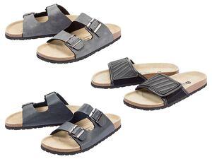 LIVERGY® Pantolette Herren, anatomisch geformtes Fußbett, mit Leder und Textil