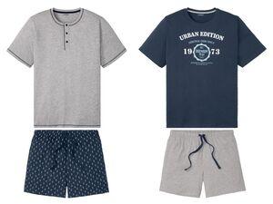 LIVERGY® Shorty Pyjama Herren, mit Baumwolle