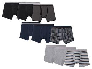 LIVERGY® Boxershorts Herren, 3 Stück, elastischer Bund, mit Baumwolle