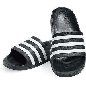 Adidas Adilette Aqua, schwarz/weiß, verschiedene Größen - Gr. 10