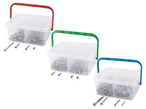 PARKSIDE® Schrauben »EDS«, 260 Stück, Spanplatten- oder Blechschrauben, aus A2-Edelstahl