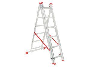 PARKSIDE® Alu-Multifunktionsleiter, 3 x 6 Sprossen, 3,7 m Länge, 150 kg Belastbarkeit
