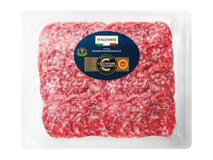 Italienische Salami, geschnitten
