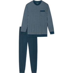 Schiesser Original Classics Schlafanzug, lang, Single Jersey, Bündchen, für Herren