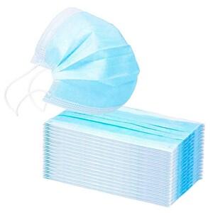 50 Stück Mund-Nasenschutz 3-lagig