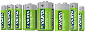 RECHARGE ACCU Power in verschiedenen Kapazitäten und Ausführungen Varta