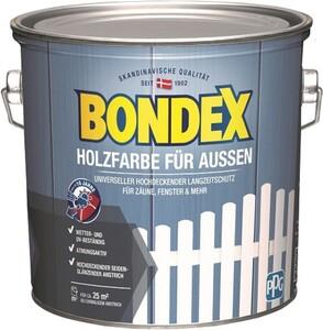 Bondex Holzfarbe für Aussen ,  2,5 l, weiß