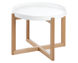 Living Style Design-Tisch, weiß