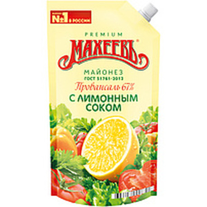 Salatmayonnaise mit Zitronensaftkonzentrat (0,2%), 67%