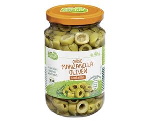 GUT bio Grüne Manzanilla Oliven