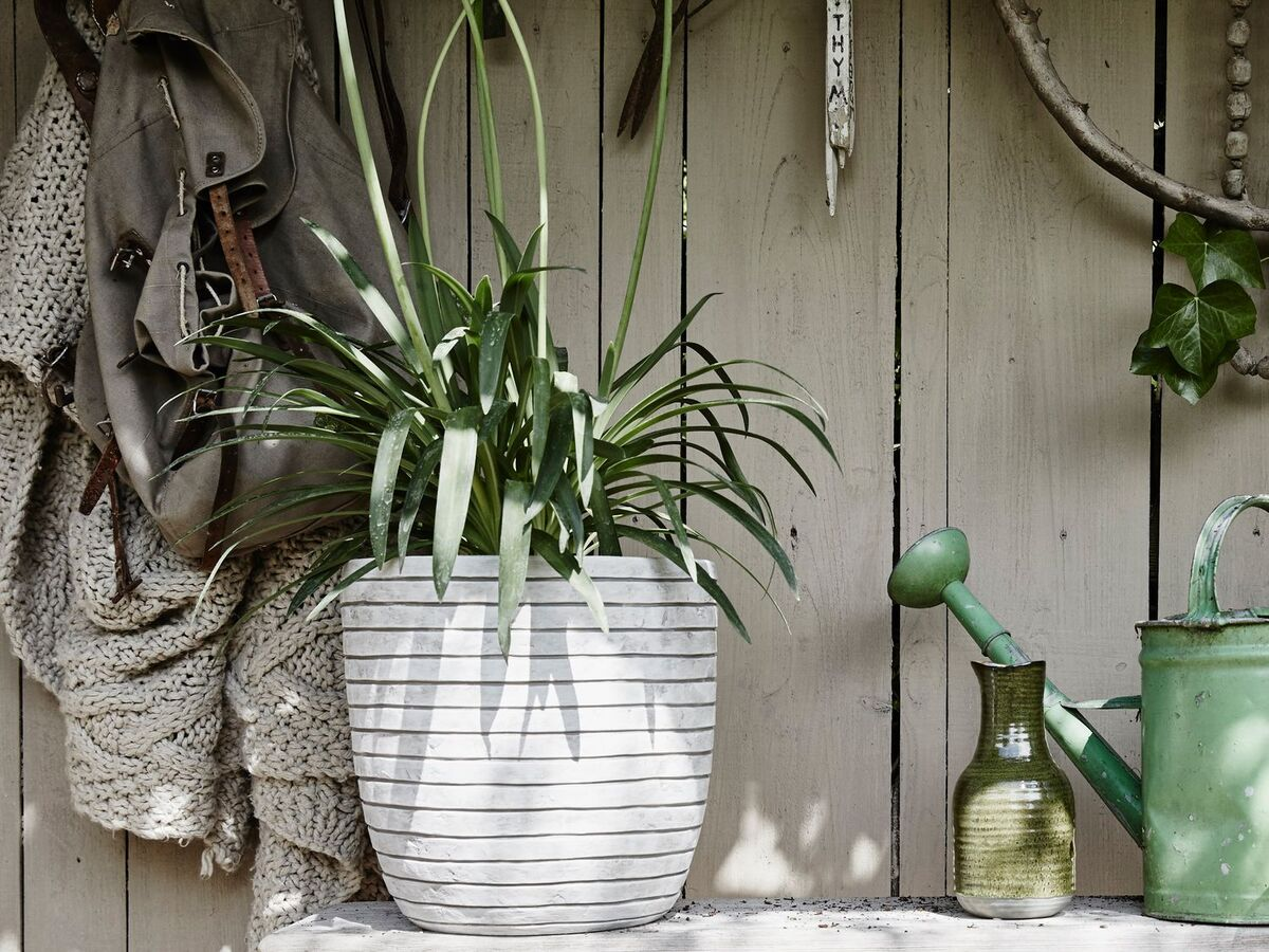Bild 5 von Capi Europe Blumentopf »Row«, rund, anthrazit, elfenbein, Ø 35 x H 34 oder Ø 43 x H 41 cm