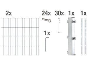 GAH ALBERTS Gabionen-Anbauset Step², zum Einbetonieren, Breite: 2000 mm