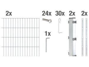 GAH ALBERTS Gabionen-Grundset Step², zum Aufschrauben, Breite: 2000 mm