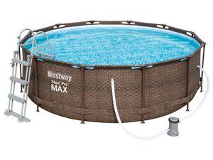 Bestway Pool »Steel ProMAX™«, Stahlrahmenpool-Set, Filterpumpe, Sicherheitsleiter