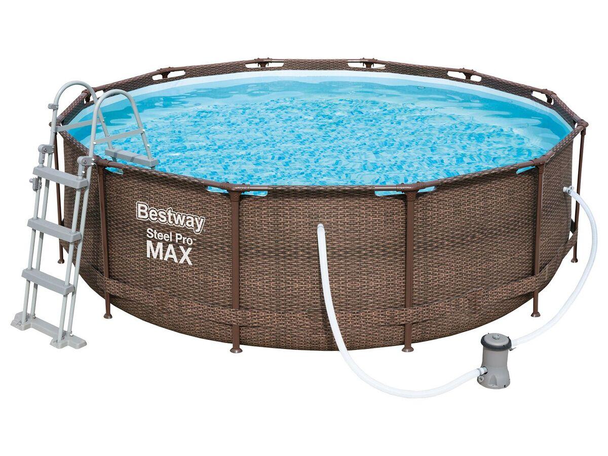 Bild 1 von Bestway Pool »Steel ProMAX™«, Stahlrahmenpool-Set, Filterpumpe, Sicherheitsleiter