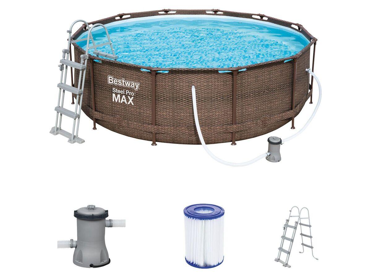 Bild 2 von Bestway Pool »Steel ProMAX™«, Stahlrahmenpool-Set, Filterpumpe, Sicherheitsleiter