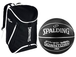 Spalding Rucksack inkl. Basketball NBA Downtown Outdoor schwarz, Größe 7
