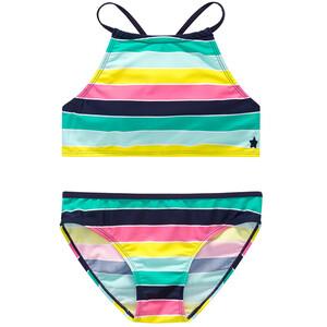 Mädchen Bikini mit Blockstreifen