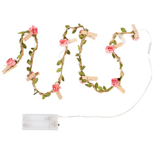 LED Girlande mit Rosenblüten