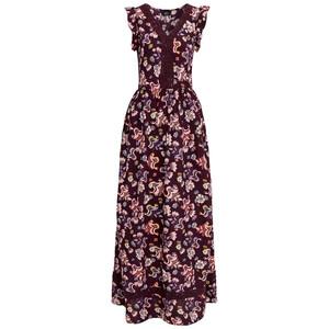 Damen Maxikleid mit floralem Allover-Motiv