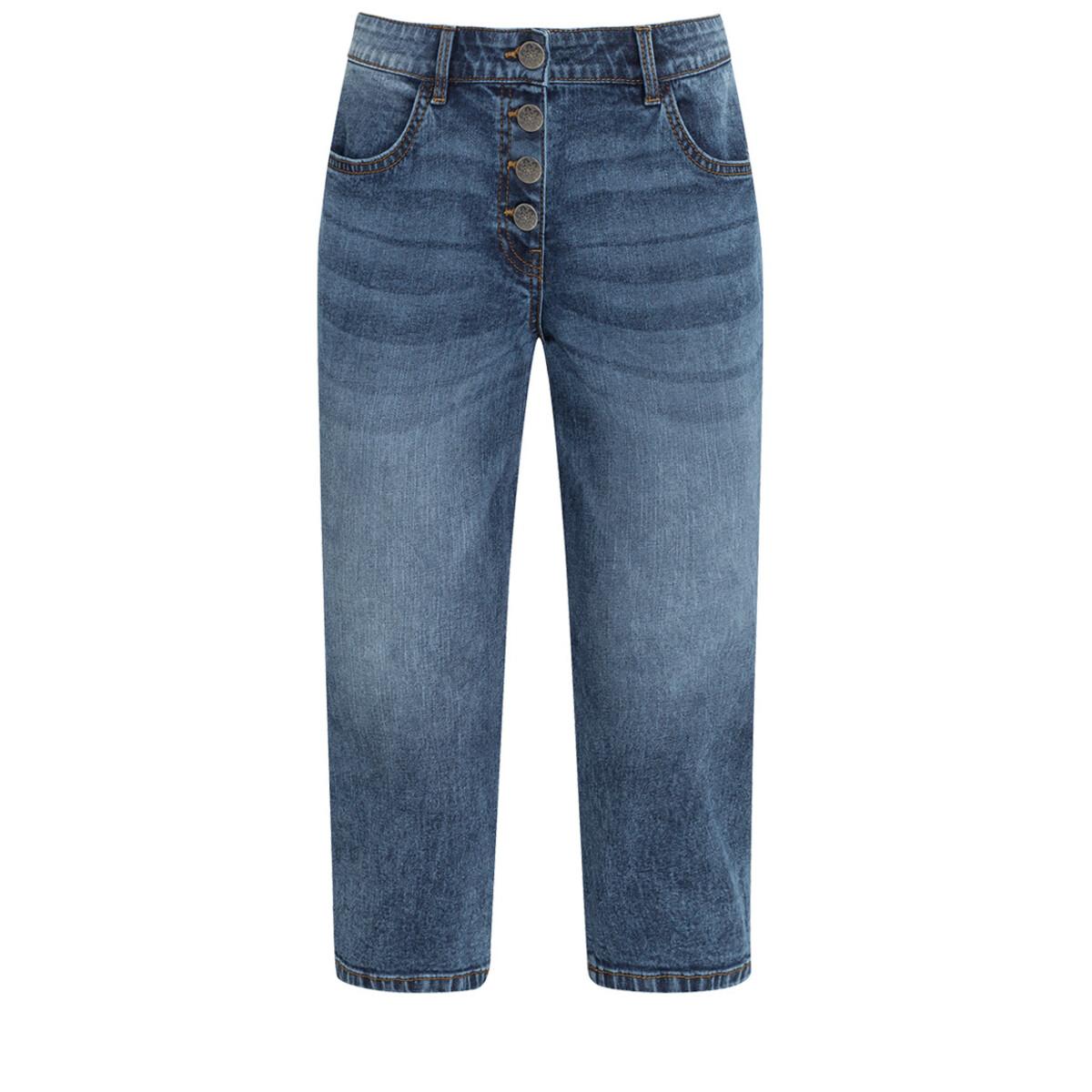 Bild 1 von 3/4 Damen Slim-Jeans mit Knopfleiste
