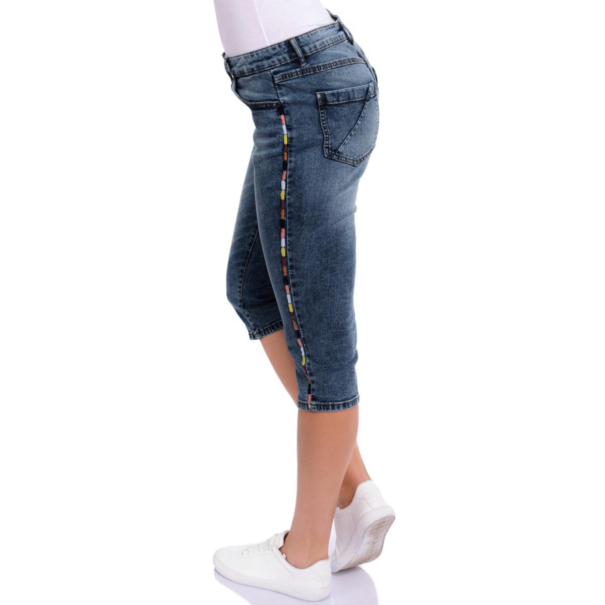 Bild 3 von 3/4 Damen Slim-Jeans mit Knopfleiste