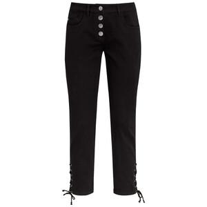 7/8 Damen Slim-Jeans mit Schnürung