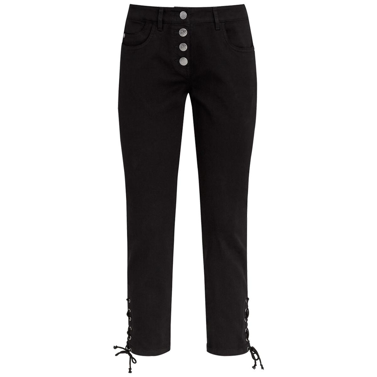 Bild 1 von 7/8 Damen Slim-Jeans mit Schnürung