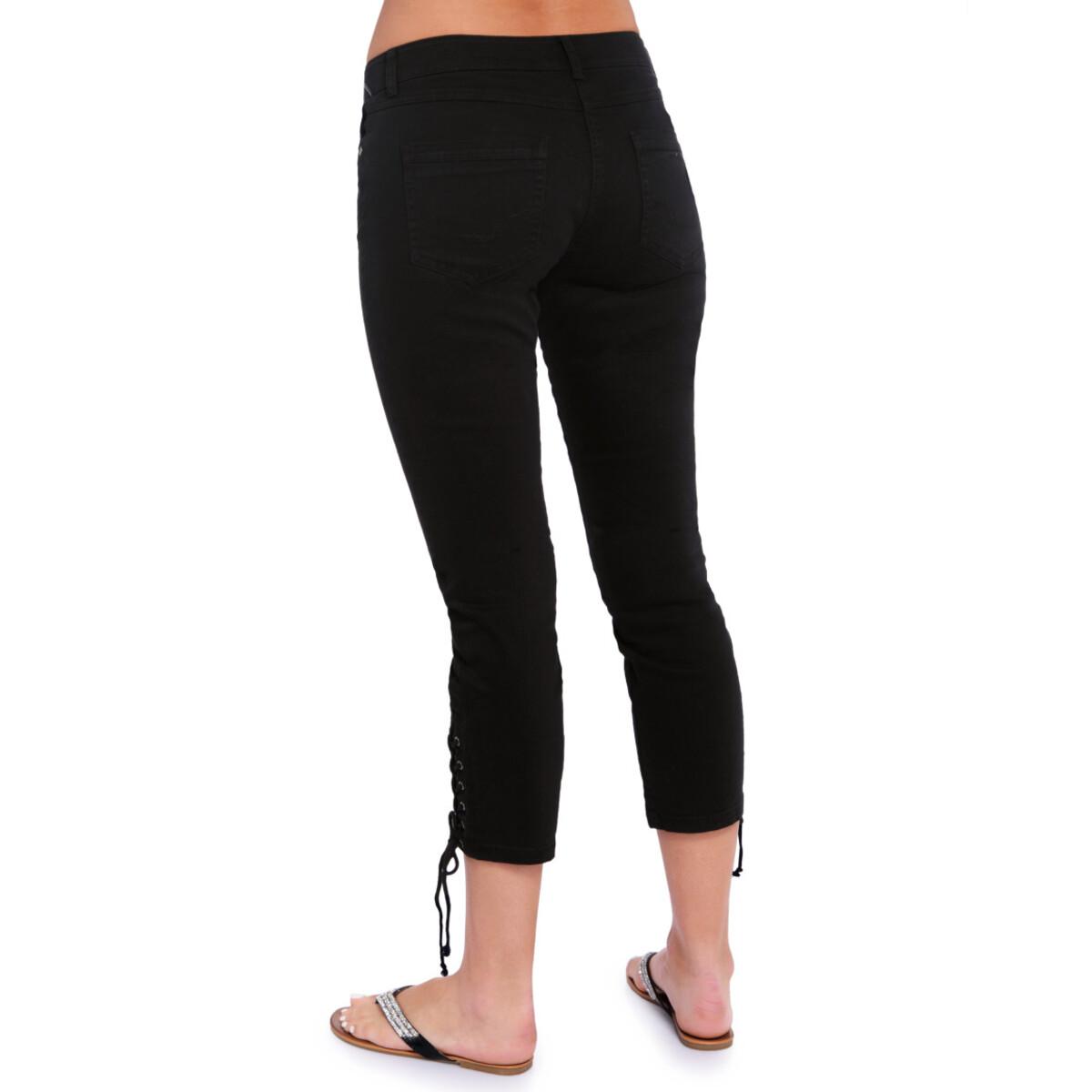 Bild 3 von 7/8 Damen Slim-Jeans mit Schnürung