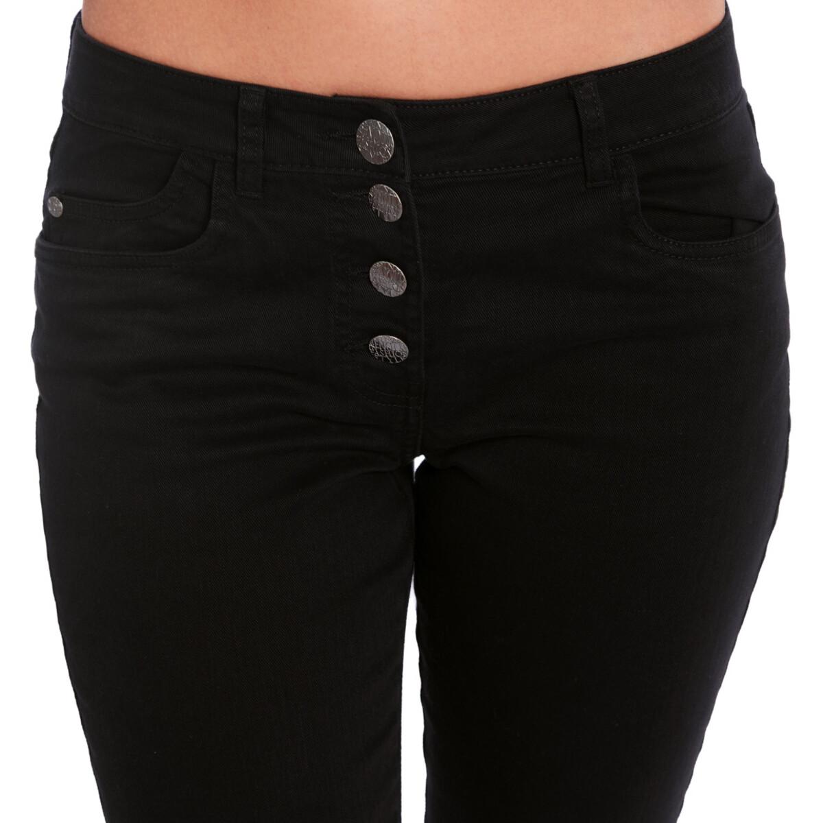 Bild 4 von 7/8 Damen Slim-Jeans mit Schnürung