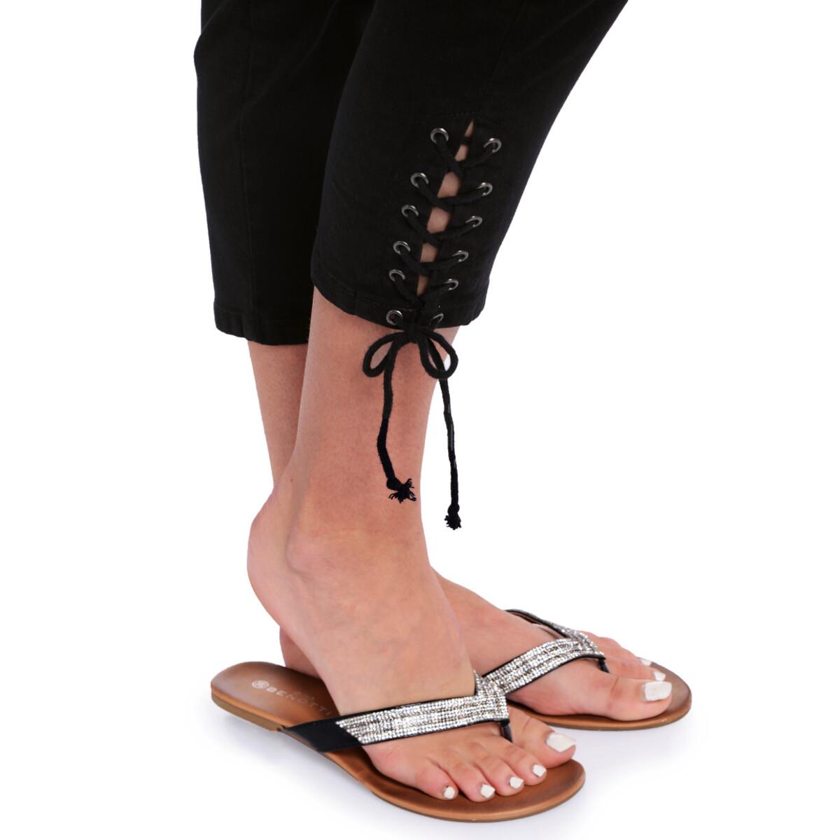 Bild 5 von 7/8 Damen Slim-Jeans mit Schnürung