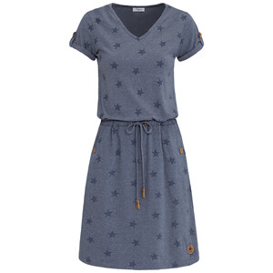 Damen Kleid mit Sternchen-Print