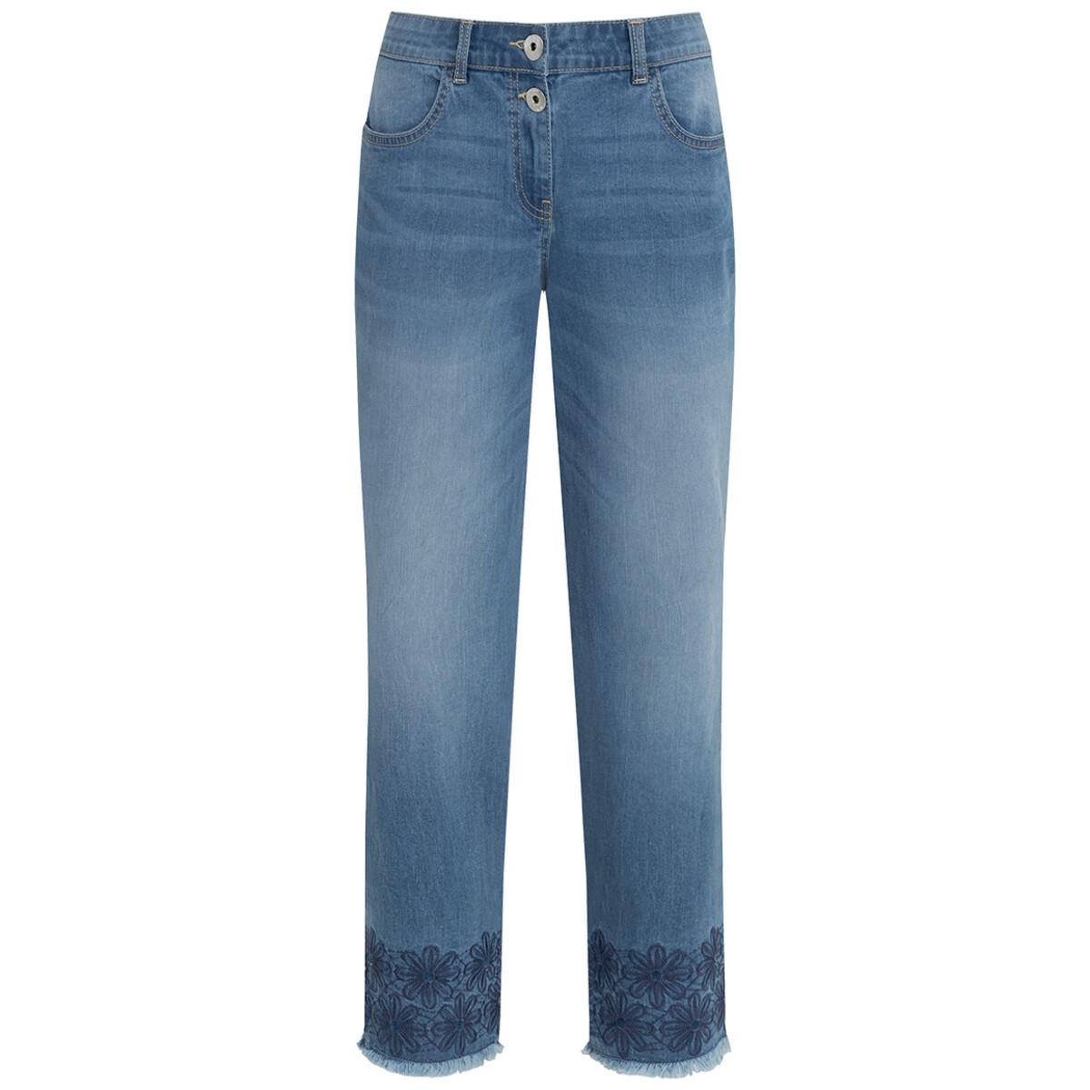 Bild 1 von 7/8 Damen Straight-Jeans mit Stickerei