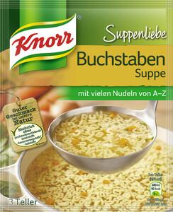 Knorr Suppenliebe Buchstaben Suppe 82 g