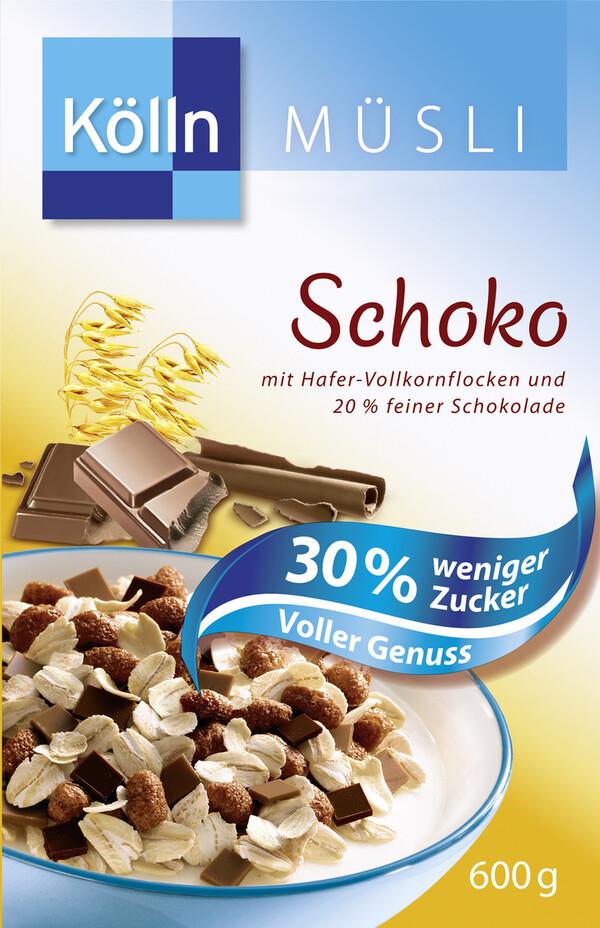 Kölln Müsli Schoko 30% weniger Zucker 600 g