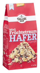 Bauckhof Demeter Bio Müzli Früchtetraum Hafer ungesüßt 425 g