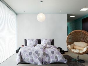 Primera Seersucker Bettwäsche »Kreise«, 135x200 cm oder 155x220 cm, aus Baumwolle
