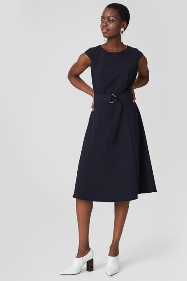 C&A Kleid mit Gürtel, Blau, Größe: 48 von C&A für 16,99 ...